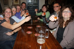ale tasting in the Mawson Arms