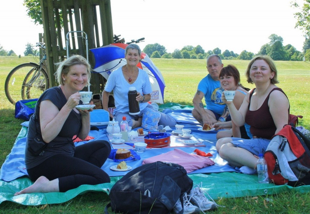 Afternoon tea picnic with massage on a bike tour