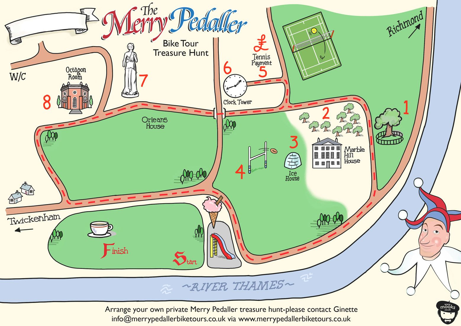 Love our new map for our family  treasure hunt! Done by Russ from www.mooks.co.uk