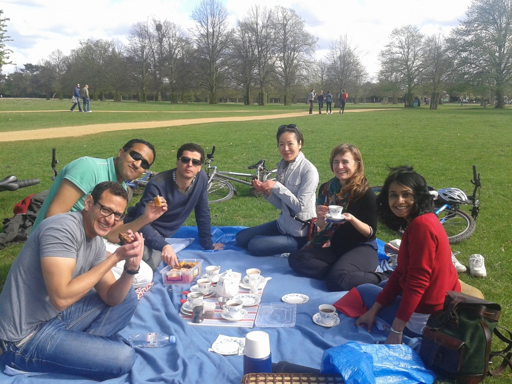 Mmmm a well deserved picnic!