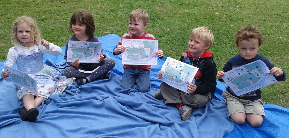 Treasure maps proudly being displayed with their stickers on...well done kids!