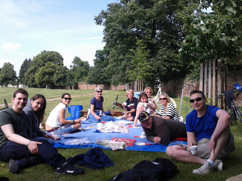 Our afternoon tea picnic on this ride is in Syon Park