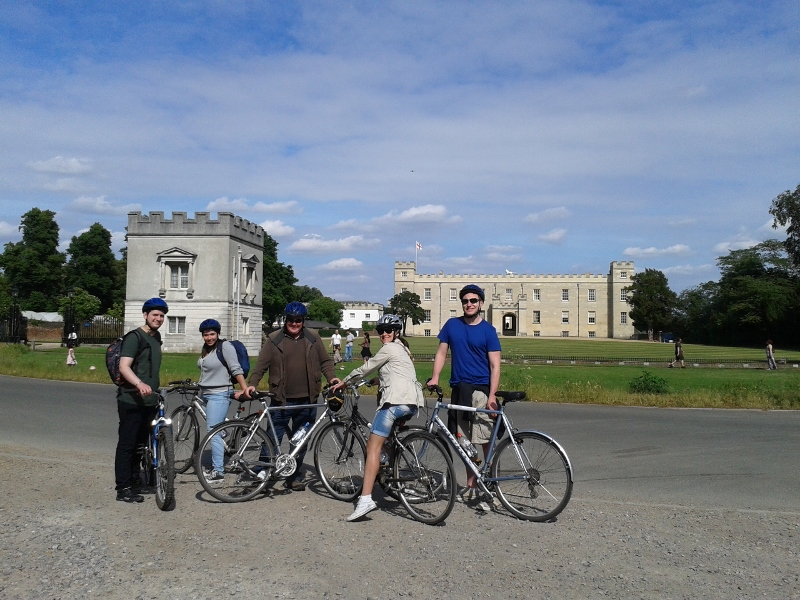 The beautiful 16th Century Syon House on our bike tour