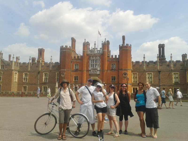 Hampton Court Palace is the finishing spot for 6 of our group.