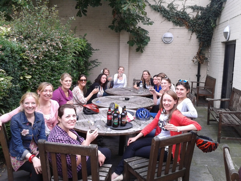 Fullers Ale Tasting at The George and Devonshire in Chiswick today for our group of Hennies!