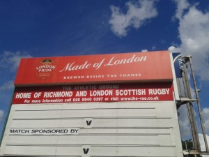 London Scottish Rugby By Bike