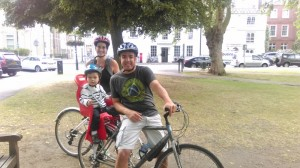 We can provide a bike seat for your child- but we recommend you are used to cycling with them!