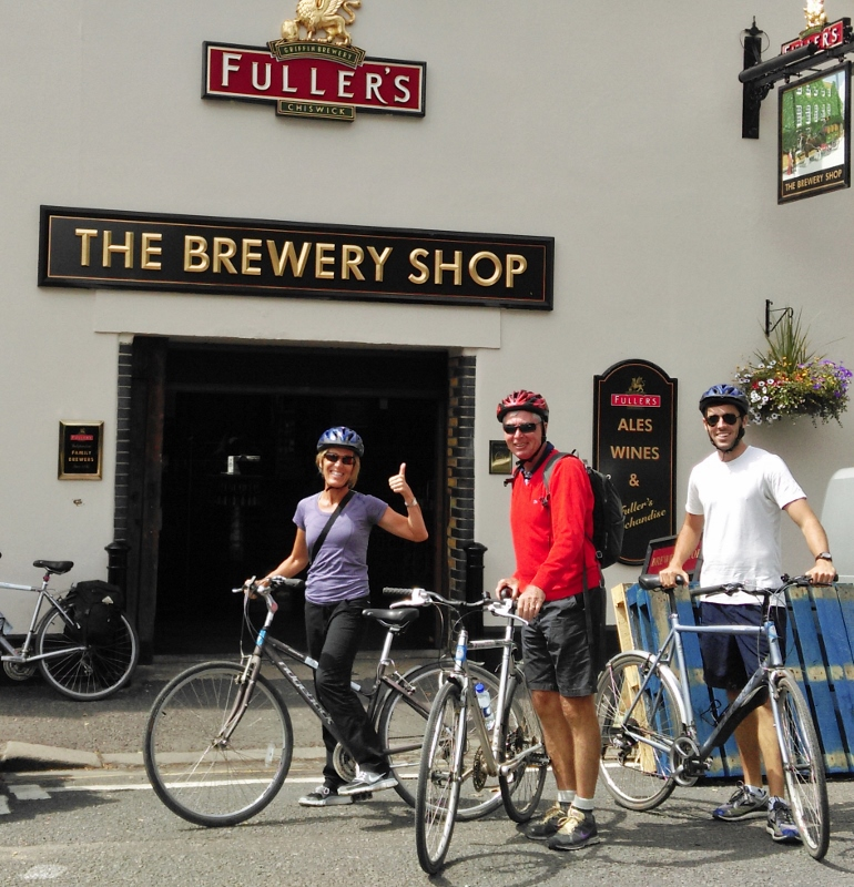 Visit the brewery shop and taste famous Fullers beer on our Ale Tasting Bike Tour